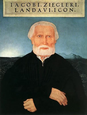 HUBER Wolf Portrait of Jacob Ziegler