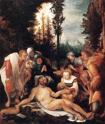 HUBER Wolf The Lamentation of Christ