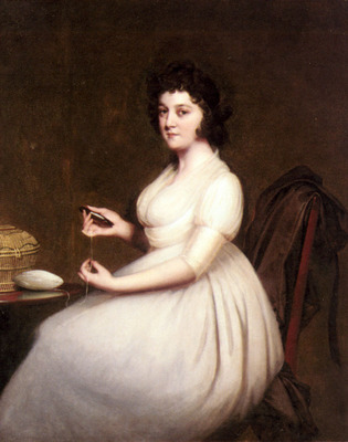 Wright Joseph Portrait Of Mrs Abney