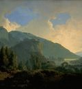 Wright An Italian Landscape with Mountains and a River