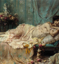 Hans Zatzka Reclining Beauty