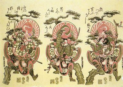 kiyonobu ii, torii japanese, active 1725