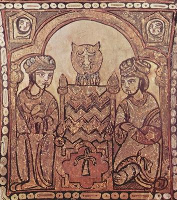 arabischer maler der palastkapelle in palermo