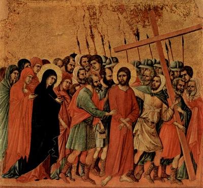 Bearing of the Cross Duccio di Buoninsegna