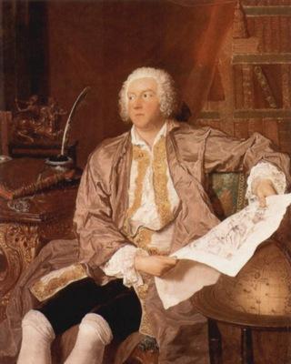 Carl Gustaf Tessin portrait by Aved