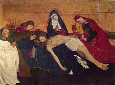 Enguerrand Quarton La Pieta de Villeneuve les Avignon c  1455