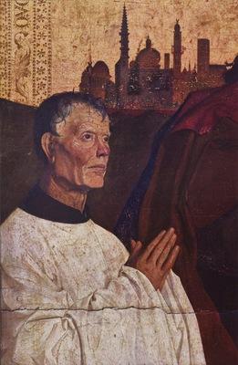 Enguerrand Quarton La Pieta de Villeneuve les Avignon c  1455 detail of donor