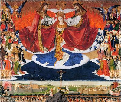 Enguerrand Quarton Le Couronnement de la Vierge 1454