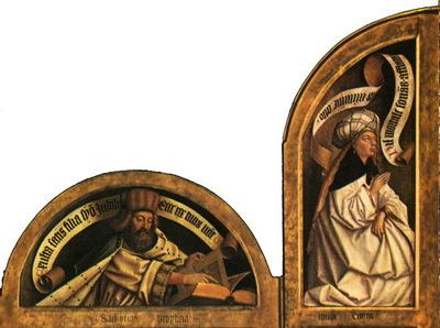 Ghent altarpiece Lunetes left