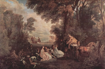 Jean Antoine Watteau The Halt during the Chase c  1718 1720