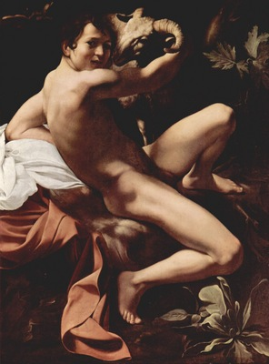 Michelangelo Merisi da Caravaggio Saint John the Baptist Youth with a Ram c  1602 Yorck Project