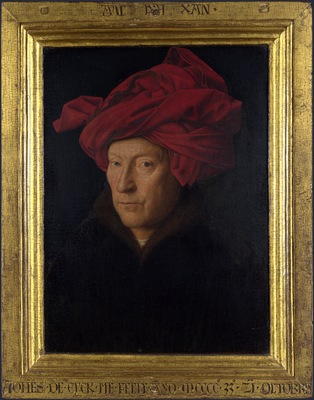 Portrait of a Man in a Turban Jan van Eyck with frame