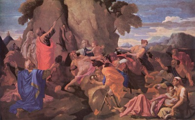 poussin nicolas moses striking water from the rock