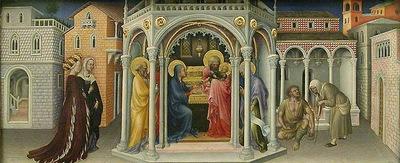 Presentazione al Tempio Gentile da Fabriano restored louvre