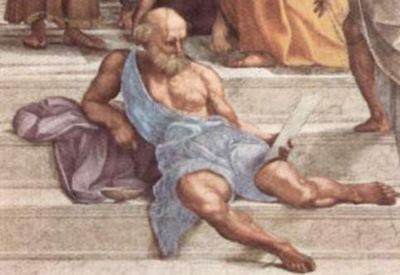 Raphael Ecole d Athenes detail Diogene