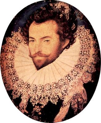 Sir Walter Raleigh oval portrait by Nicholas Hilliard