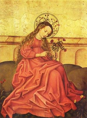 Vierge au jardinet Maitre rhenan anonyme Musee de l Oeuvre Notre Dame