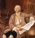 Carl Gustaf Tessin portrait by Aved