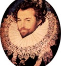 Sir Walter Raleigh oval portrait by Nicholas Hilliard