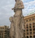 musician woman plaza catalunya barcelona