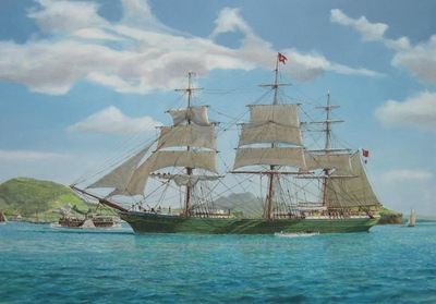 The Aberdeen White Star ship Ulcoats bring immigrants to Auckland in 1863.