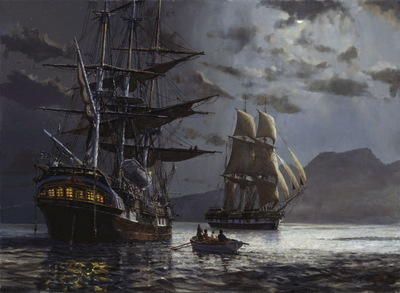The Duchess of Argyle and the Jane Gifford.  The first emigrant ships into Auckland.