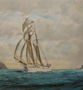 The Topsail Schooner Huia in Wellington Harbour