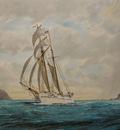 The Topsail Schooner Huia in Wellington Harbour