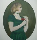 Lady with rowan berries