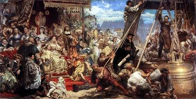 Jan Matejko   Zawieszenie dzwonu Zygmunta na wiezy katedry w roku 1521 w Krakowie