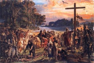 Zaprowadzenie chrzescijanstwa 965 Matejko JPG