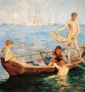 tuke, henry scott 1858–1929,  august blue,