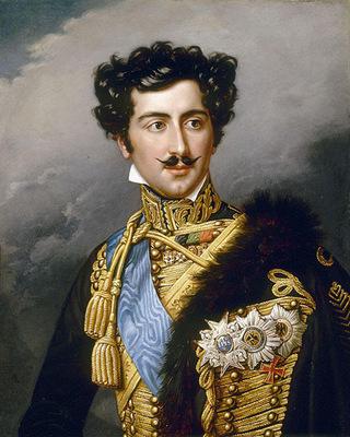 Crownprince Oscar of Sweden painted by Joseph Karl Stieler