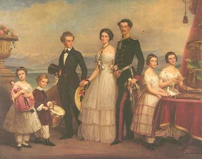 Helena Bavorská s rodinou