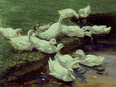 Paul Gosselin   -  De Leie  (The river Lys)