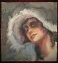 edith dimock with plumed hat Willliam Glackens