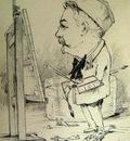 René Leverd  - Self portrait