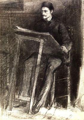 Alfred Stevens  - Self portrait