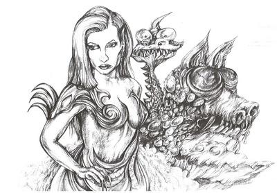 fantasy warrior of the dragon