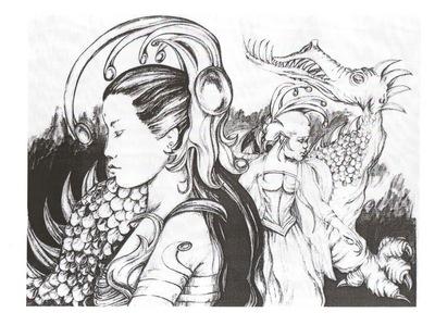 fantasy warrior from Japan