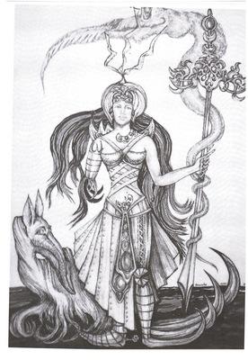 fantasy warrior of the snake's sign