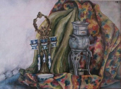 the still life with samowar