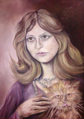 the lady with cat