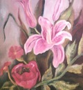 the pink flower