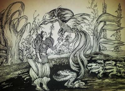 in the secret garden - warrior of the magic bird