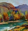 Autumn in valley