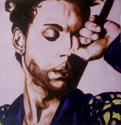 The artist Prince painting by Geert Coucke