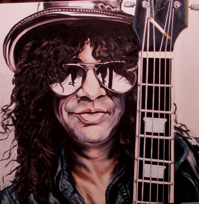 Slash, painting by Geert Coucke