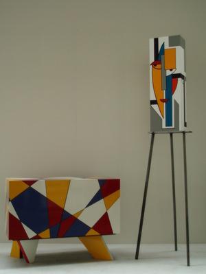 Wandelende kast ontwerp en realisatie Geert Coucke en Julien