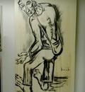 Geert Coucke.Studie werk naar Permeke door de belgische kunstenaar Geert Coucke